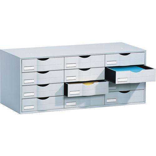 Desktop Filing Drawers 12 Drawer Unit 813mm To Fit Tambour Fp49001