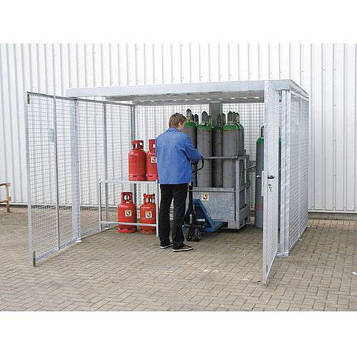Gas Cylinder Storage Cage With Roof HxWxLmm 2180x1085x1085