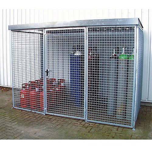 Gas Cylinder Storage Cage Without Roof HxWxLmm 2060x1500x2400