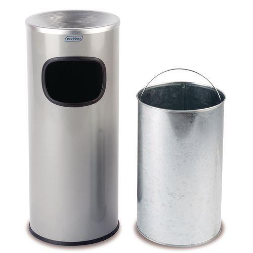 Ash Litter Bin Stainless Steel 30L