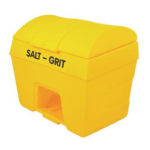 400L Heavy Duty Plastic Salt &Grit Bin With Hopper Feed 400L Capacity