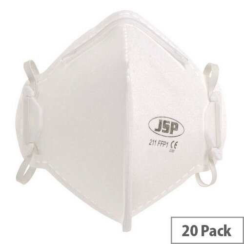 P1 Fold Flat Disposable Masks P1 Unvalved Pack of 20