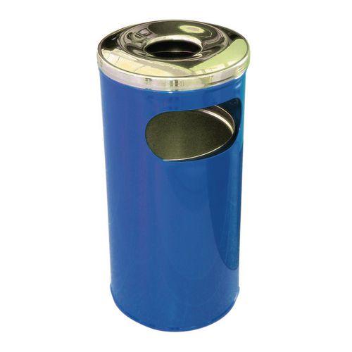 37 Litre Combined Ash Litter Bin Blue