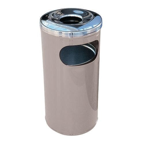 37 Litre Combined Ash Litter Bin Grey