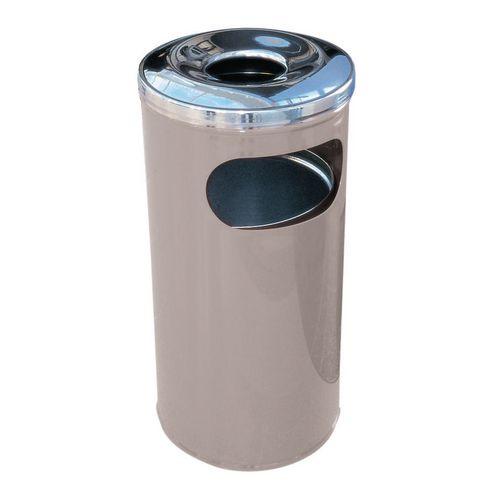 37 Litre Combined Ash Litter Bin Grey