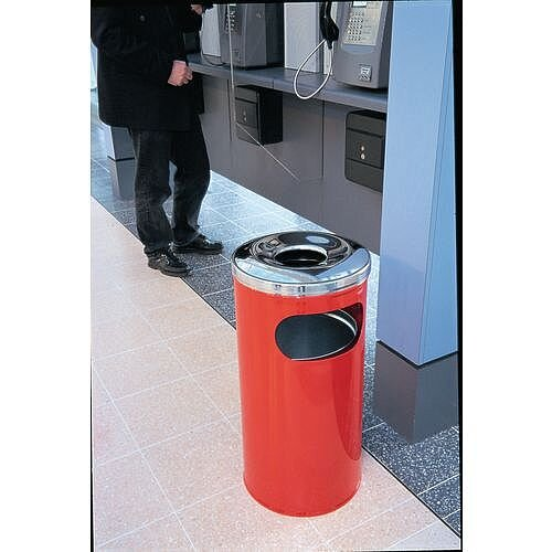 37 Litre Combined Ash Litter Bin Red