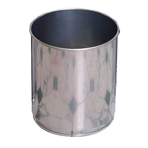 Aluminium Effect Litter Bin 12L Pack of 4