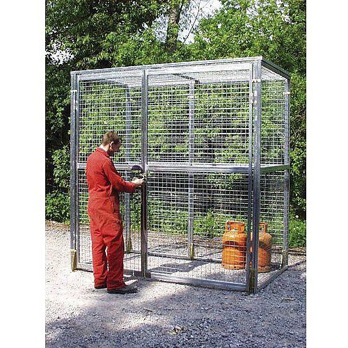 Pre-Galvanised Storage Cage HxWxD 2310x3780x2340mm