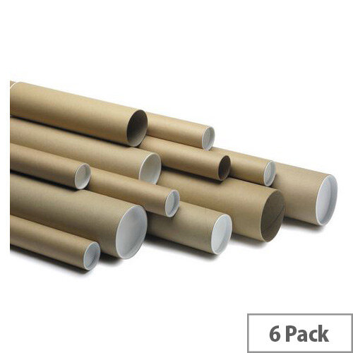 Postal Tubes 100mm Dia.x720mm Long Pack of 6