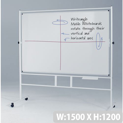 Landscape Revolving Double-Sided Whiteboard With Guideline Surface 1200x1500mm