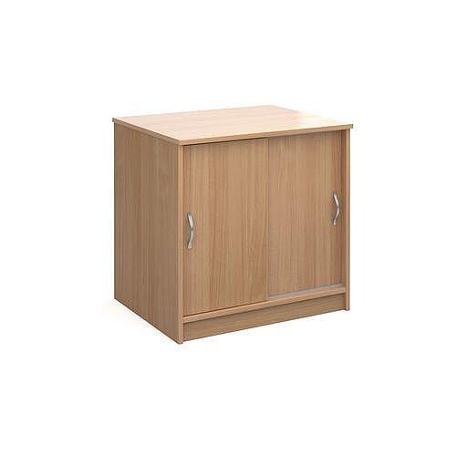 Desk High Sliding Door Cupboard Beech Hxwxd725X746X600