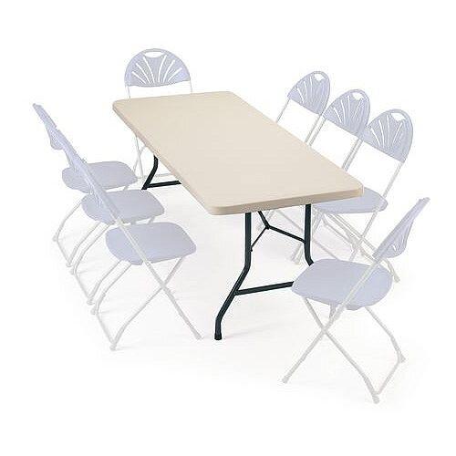 Polyfold Lightweight Folding Table Rectangular L 1524mm