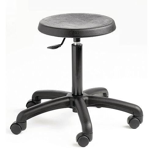 Industrial Stool Polyurethane With Castors  &Gas Lift
