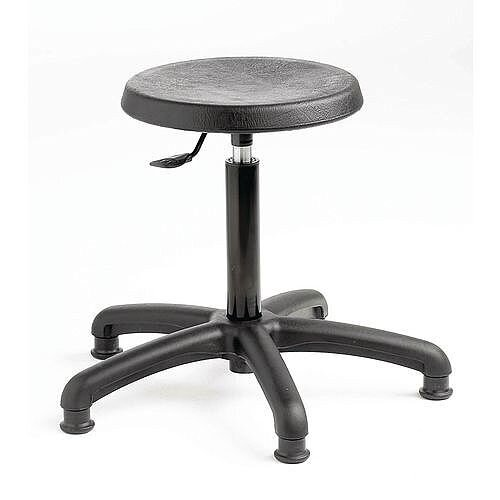 Industrial Stool Polyurethane With Glides &Gas Lift