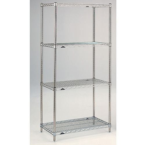 Super Erecta Wire Stainless Steel Shelving 4 Shelf Unit HxWxDmm 1590x914x610