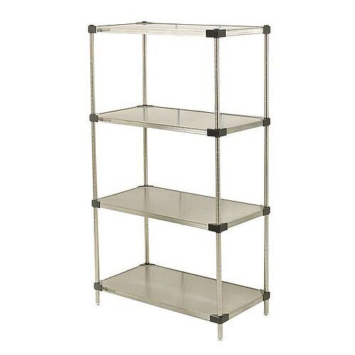 Super Erecta Solid Stainless Steel Shelving 4 Shelf Unit HxWxDmm 1590x1219x610
