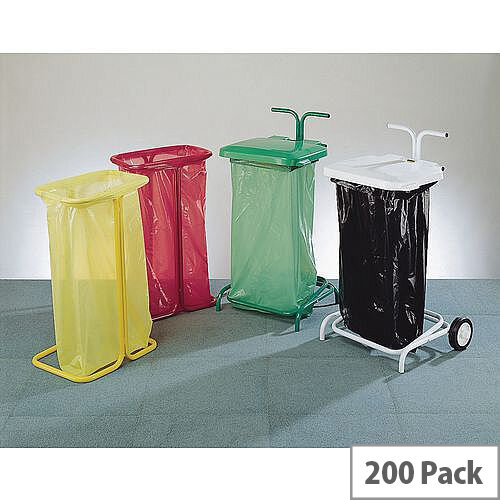Coloured Code Bin Sacks Blue 90L Pack 200