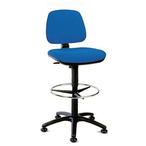 Medium Back Draughter Chair H720 - 850mm Blue