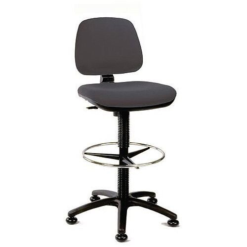 Medium Back Draughtsman Chair Charcoal Fabric