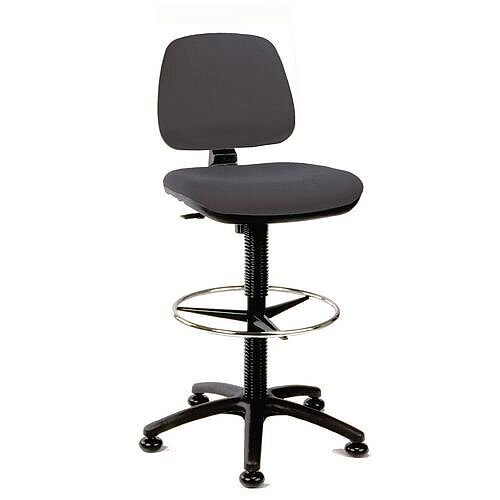 Medium Back Draughter Chair H720 - 850mm Charcoal