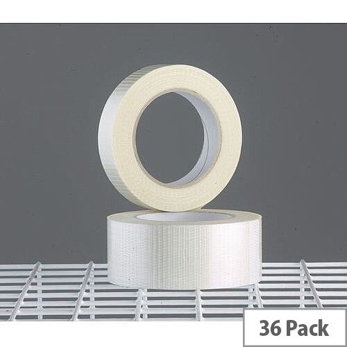 Reinforced Packing Tapes 25mm Wide Pack of 36