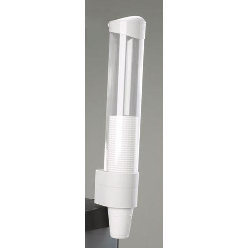 Cup Dispenser White Plastic