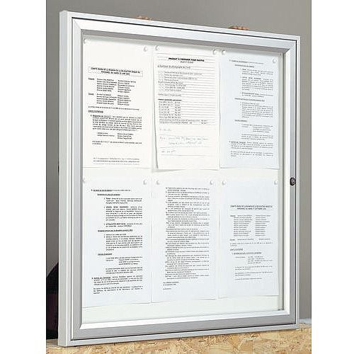 Outdoor Glazed Lockable Noticeboard With Magnetic Surface Holds 2 x A4 Sheets