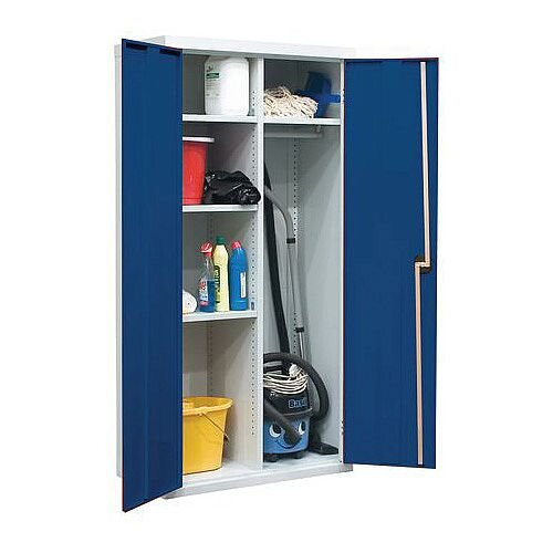 Utility Cupboard H x W x D mm: 1800 x 1200 x 450 Blue