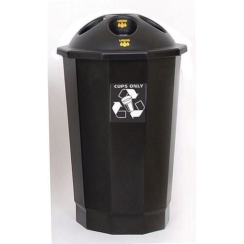 Recycling Bin Bank System Cup Bank Black 75L