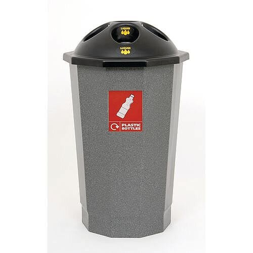 Recycling Bin Bank System For Plastic Bottles Granite 75L