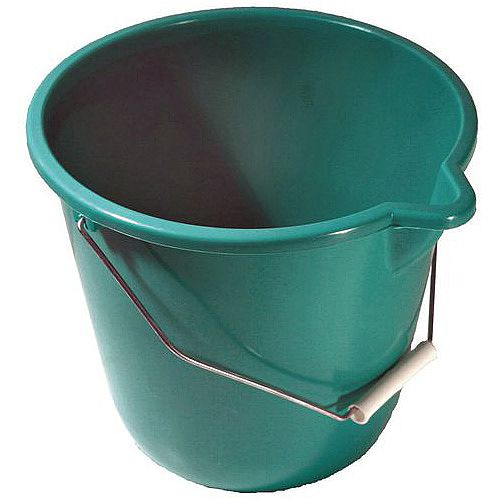 Plastic Bucket Green Pack of 4