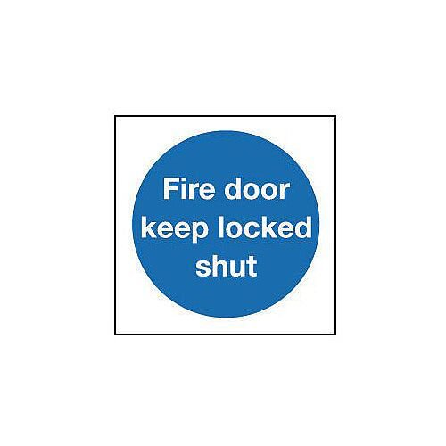 Self Adhesive Vinyl Fire Door Keep Locked Shut Sign