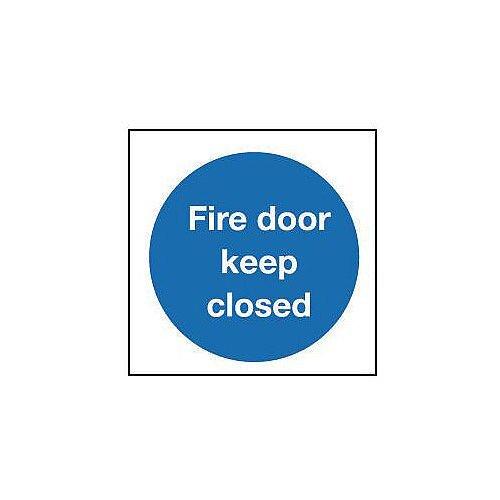 Self Adhesive Vinyl Fire Door Keep Closed Sign