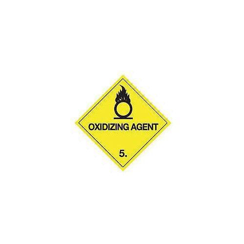 ADR RID IDGM IATA &ICAO hazardous substance sign label Oxidising agent HxW 100x100mm