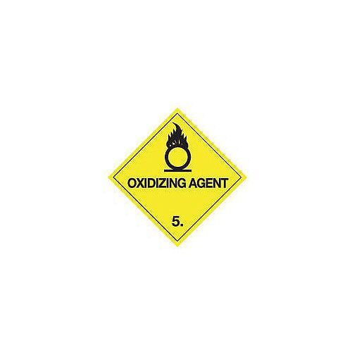 ADR RID IDGM IATA &ICAO Hazardous Substance Sign Label Oxidising agent HxW 300x300mm