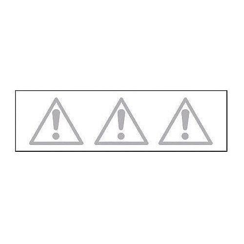 Sign Glass Highlighting 500x150 Vinyl Warning