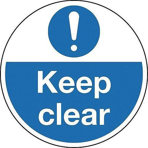 Sign Keep Clear 400 Dia Floor Graphic Vinyl