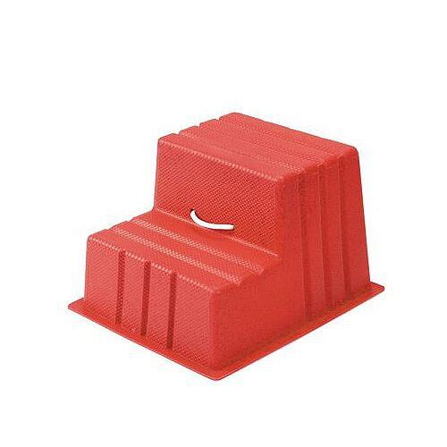 Lightweight Plastic Static Steps 2 Tread Red