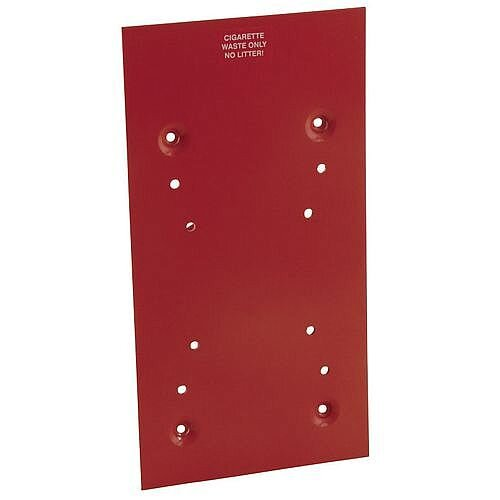 Mounting Plate For Universal Ash Bins Red