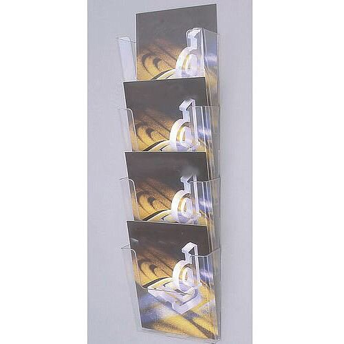Wall Mounted Waterfall Modular Leaflet Dispenser Pocket Size A4 portrait