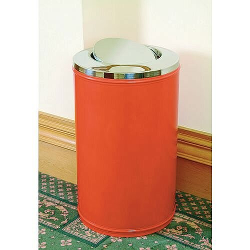 High Capacity Self Closing Litter Bin Red 120L
