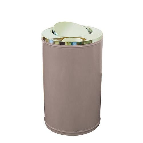 High Capacity Self Closing Litter Bin Grey 120L