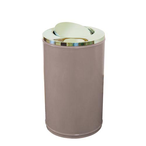 High Capacity Self Closing Litter Bin Grey 120L