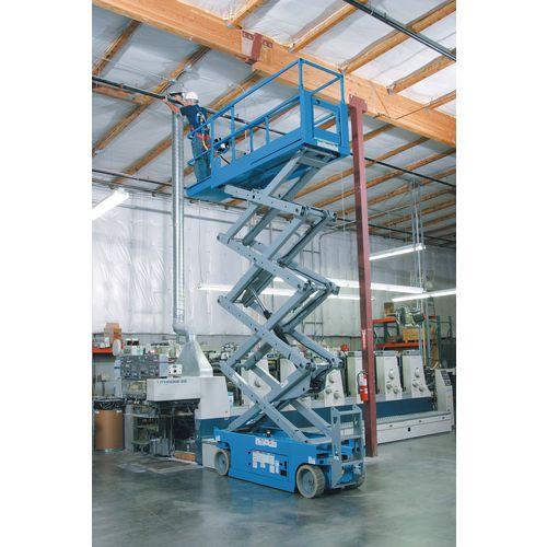 Self Propelled Scissor Lifts Steel Platform Height 7.92m Blue