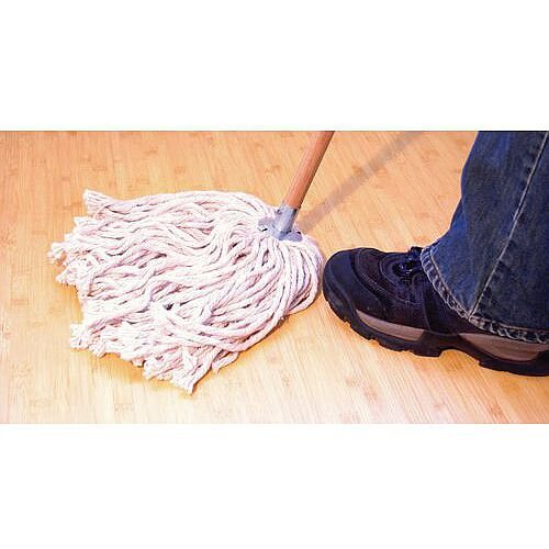 Heavy Duty Cotton Mop Capacity 8oz Complete with Wooden Handle
