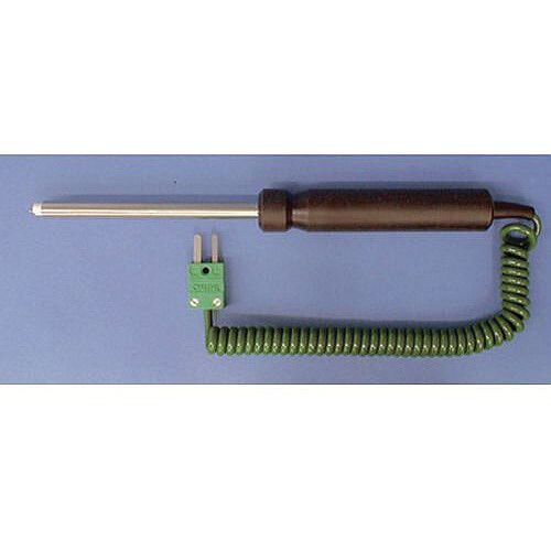 K-Type Probes With Handle And 1 Coiled Cable Ceramic Tip Probe 1000C Ceramic Tip Probe