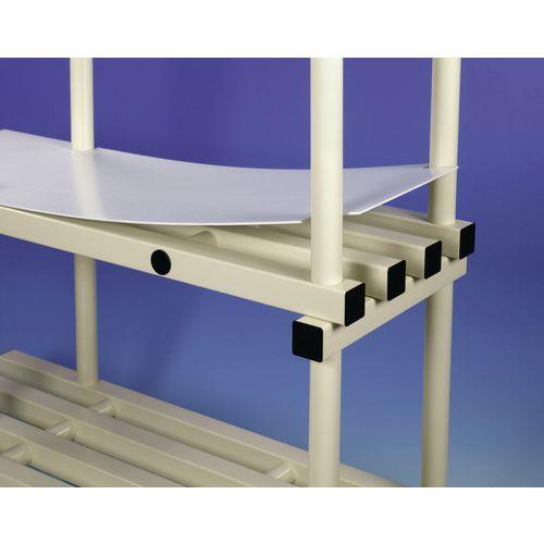 Pvc Shelf Covers For Anodised Aluminium Shelving