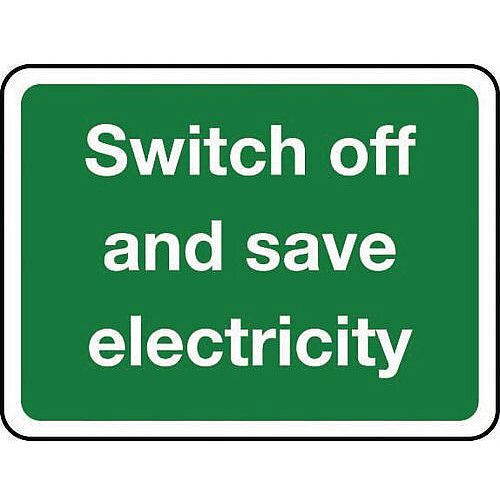 Sign Switch Off And Save Self-Adhesive Vinyl 100X75