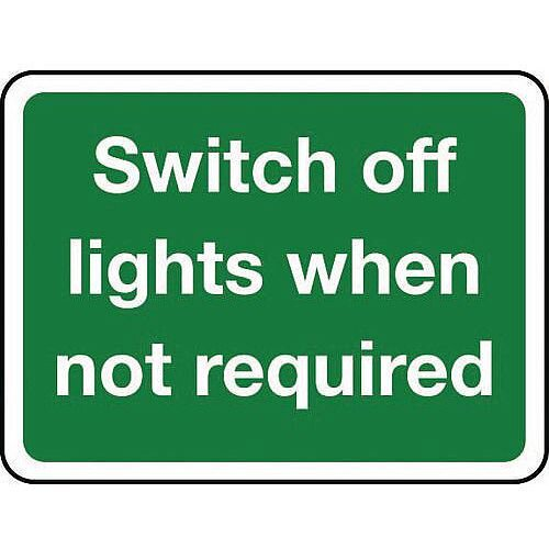 Sign Switch Off Lights When Self-Adhesive Vinyl 100X75