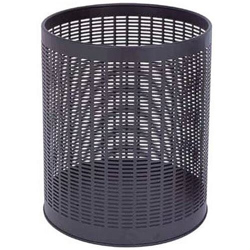 Economy Black Perforated Waste Bin H x Dia 240 x 290mm